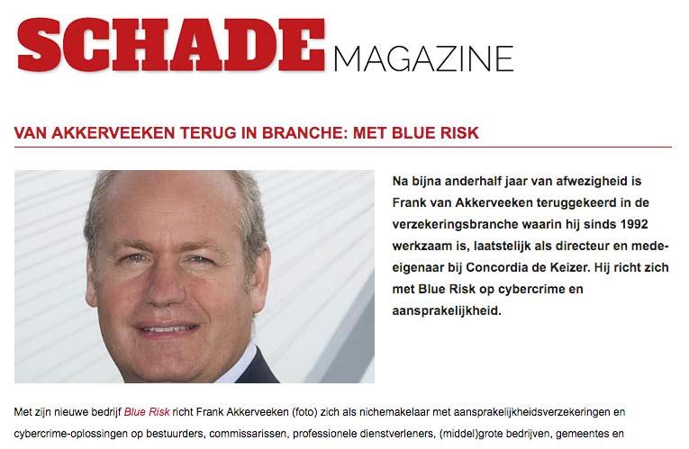 pers over verzekeraar frank van akkerveeken in schademagazine